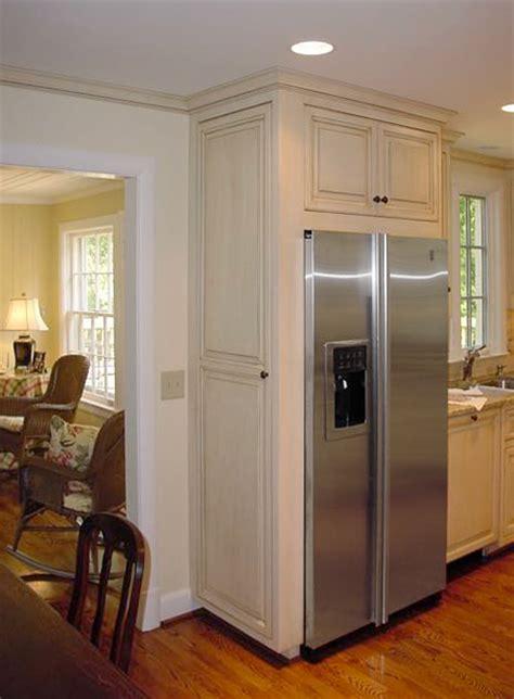 Painted amp glazed refrigerator cabinet