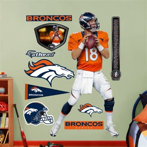nfl denver broncos peyton manning home wall graphics
