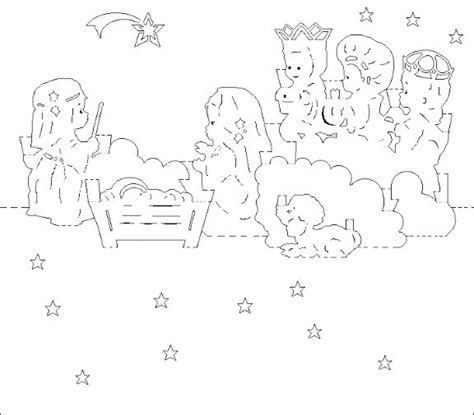 Pop Up Nativity Card Template by 1000 Images About Navidad On Paper Templates