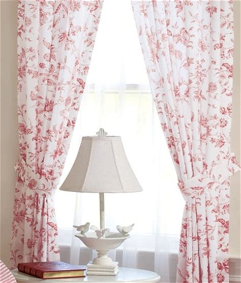toile curtains red red toile curtains obsession for bedding pillows and
