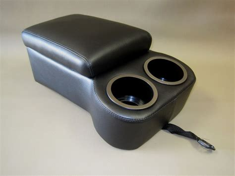 With Cup Holders by Madrid Black Seat Console With Flip Up Armrest And Cup