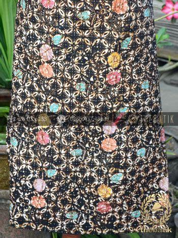 Dress Batik Cap Wonogiren Lucia kain batik remukan coletan kawung picis floral hitam