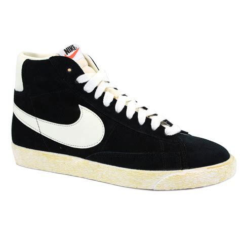 Nike Blazer Black Made In nike blazer mid premium suede 375722 001 mens laced suede trainers black white ebay
