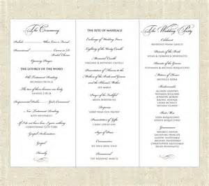 trifold wedding program tri fold printable wedding program tri fold etsy and