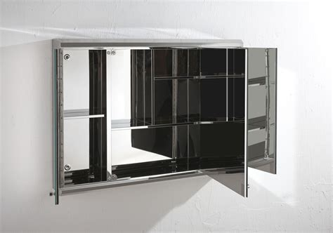 bathroom wall mirror cabinet biscay 80cm x 55cm triple door three door mirror bathroom