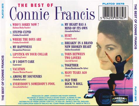 the best of connie francis entre musica connie francis the best of connie francis
