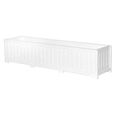 Plastic Planter Boxes Home Depot by Eagle One 48 In X 12 In White Recycled Plastic