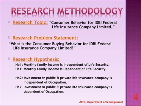 Mba Project Report On Idbi Federal by A Summer Internship Project Report On Consumer Behavior