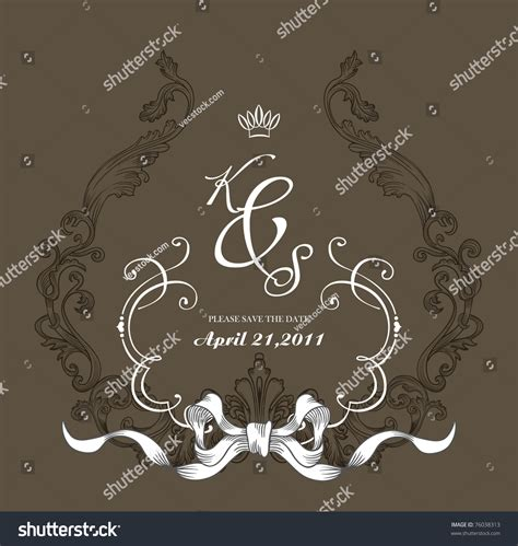 wedding invitation card cover design vintage cover design best scrapbook project stock vector