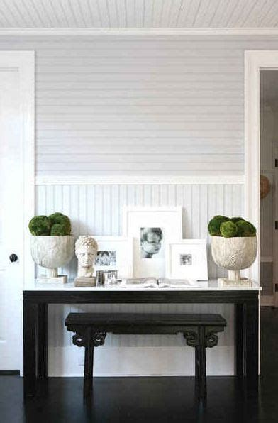 horizontal beadboard contrasting bead board in grey with green accents