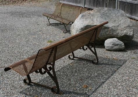ghost bench pair of quot ghost quot benches at 1stdibs