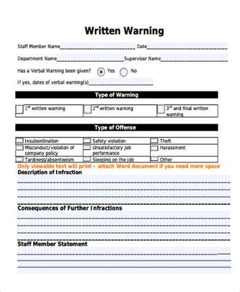written warning template cyberuse