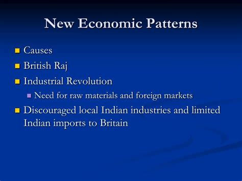 economic pattern meaning ppt cause effect british rule in india powerpoint