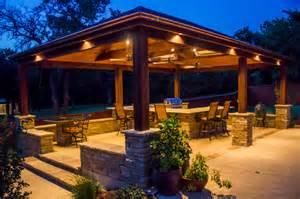 beleuchtung pavillon pavilion landscape lighting patio oklahoma city by