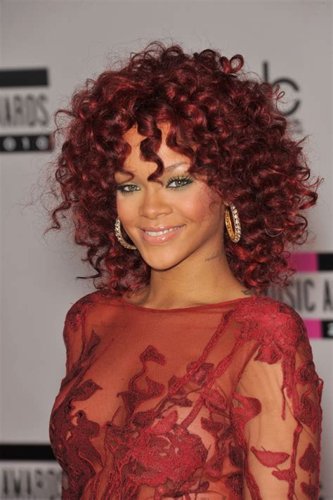 pop star with red curly hair dragon rihanna haristyle timeline riri s long short