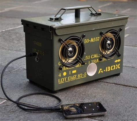 how to make a diy surplus ammo can speaker box speakers