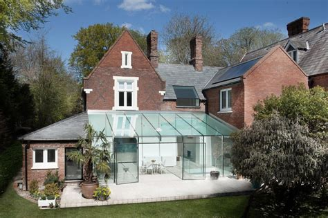 old house design old house gets an all glass extension modern house designs