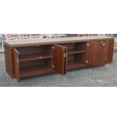 credenza cabinet metro retro furniture 116 quot vintage burl walnut