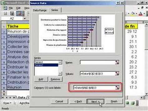 créer un diagramme de gantt avec excel 2010 excel g 233 rer vos projets avec un diagramme gantt doovi