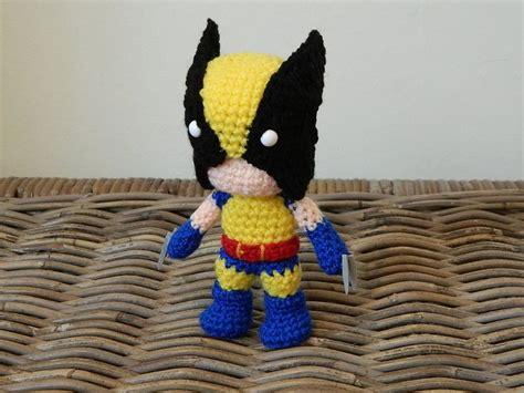 amigurumi wolverine pattern wolverine crochet amigurumi chibi plush doll by