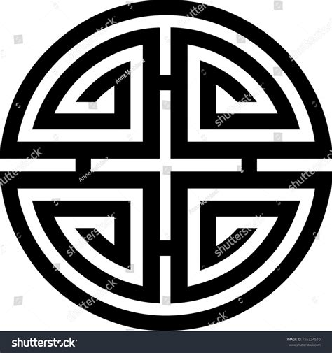 feng shui symbols four blessings chinese lucky charm feng stock vector 155324510 shutterstock