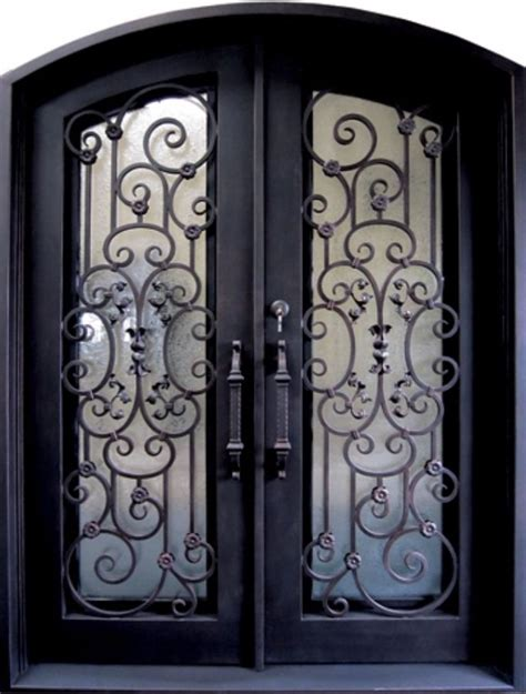 wrought iron doors iron doors iron doors unlimited 62 in x 97 5 in vita francese classic 3 4 lite painted