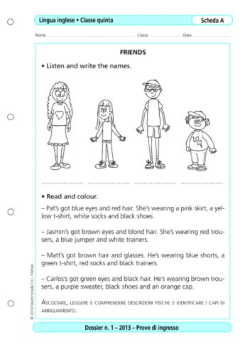 prove d ingresso quinta elementare prove d ingresso inglese classe 5 la vita scolastica