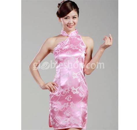 dress cheongsam pink dress cheongsam brocade pink strapless qipao