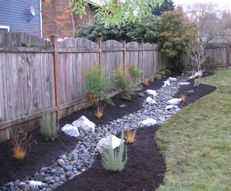 drainage trench becomes a stream landscaping dog and backyard