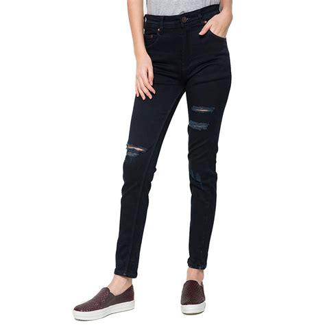 Ripped Wanita 2nd ripped slim fit wanita celana sobek slim fit celana panjang sobek denim