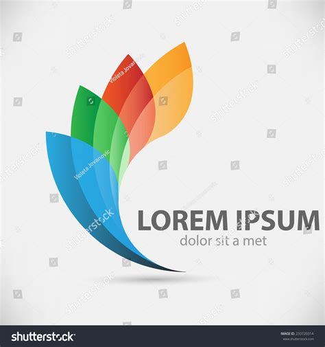 design vector logo illustrator vector logo design template abstract colorful stock vector