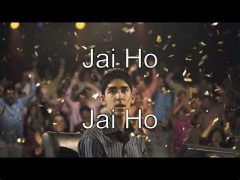 download mp3 song jai ho ar rahman jai ho lyrics slumdog millionaire youtube