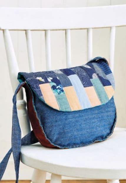 Patchwork Accessories Uk - patchwork denim bag free sewing patterns sew magazine
