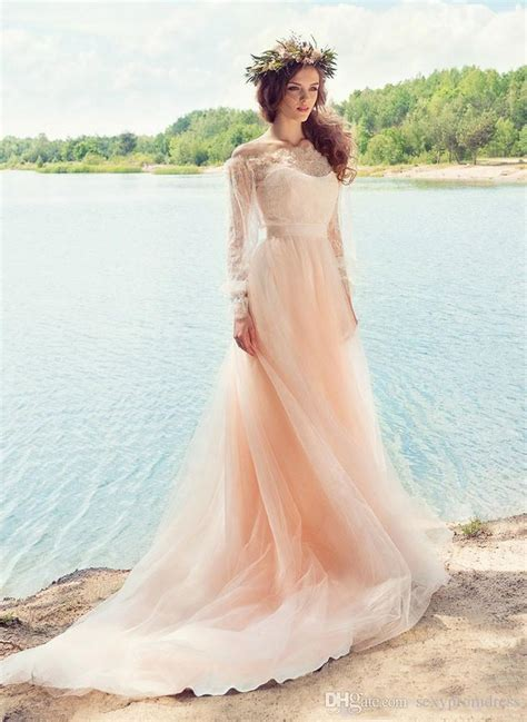 discount pink fairy wedding dresses country style