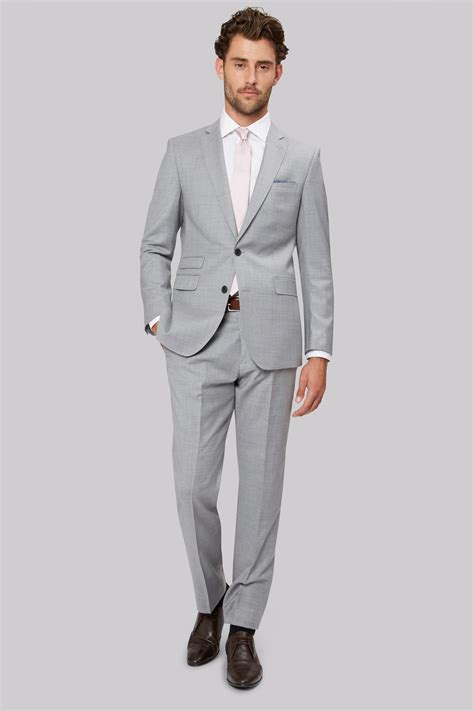 light gray fitted suits moss 1851 tailored fit light grey suit