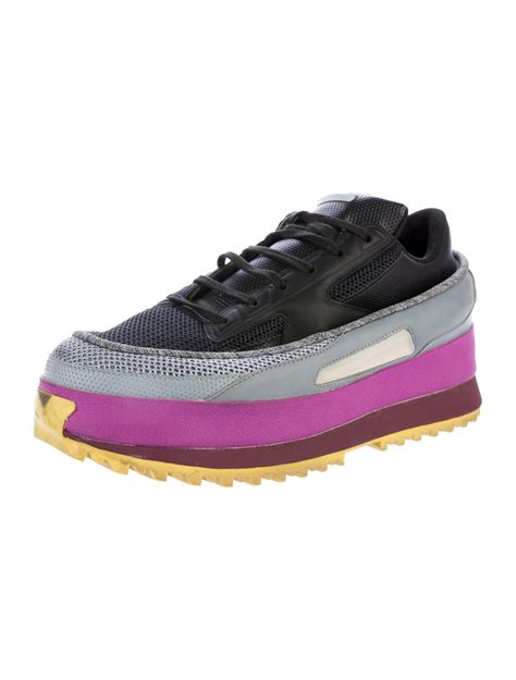 raf simons x adidas leather platform sneakers shoes wraad20112 the realreal