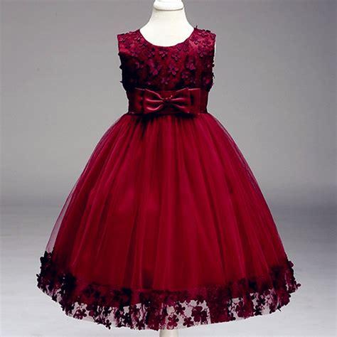 dress mitun flower mitun semi lace flower dresses appliques prom