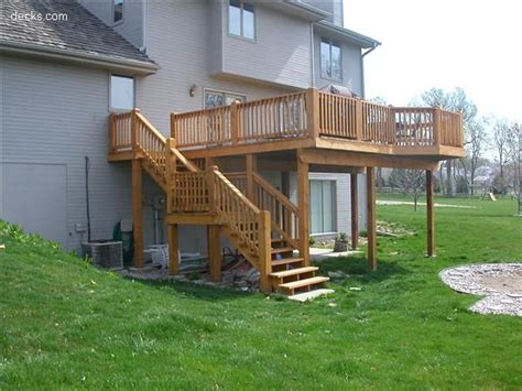 high elevation deck picture gallery home projects  day   deck stairs deck