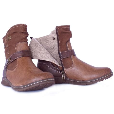 comfortable brown boots lotus kriska aranaia relife shoes short boots in brown