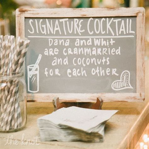 chalkboard signature drink sign one day will come