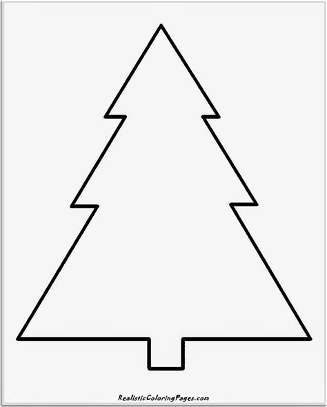 Simple Christmas Coloring Pages Simple Tree Coloring Pages