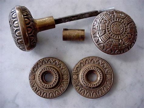 Door Knob Rosettes by Antique Eastlake Door Knob Set With Rosettes 23781794