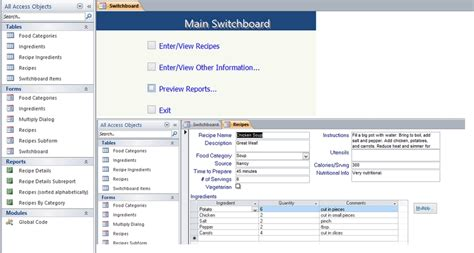 Create Resume Database Access by Access Invoice Database Invoice Template Ideas