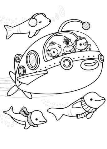 octonauts explore coloring page  printable