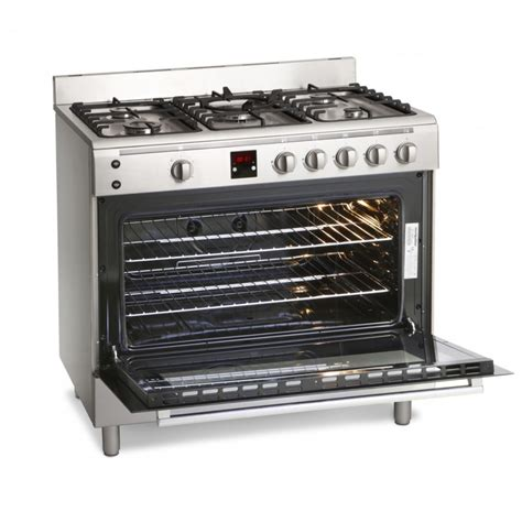Oven Gas Stainless Steel mr90gox montpellier range cooker gas 90cm in stainless