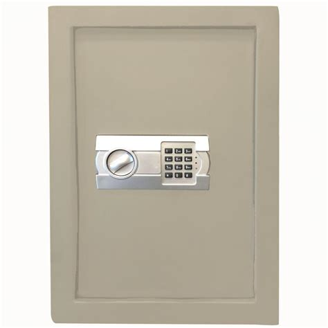 buffalo 0 58 cu ft wall safe with electronic lock beige