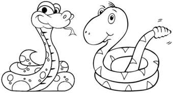 printable snake coloring pages 89391