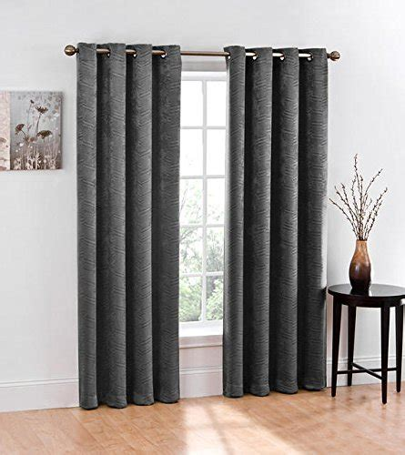 curtains 50 inches long hlc me chevron thermal blackout grommet window curtain