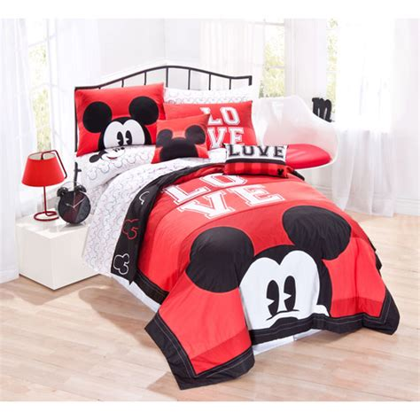 mickey mouse twin bed set disney mickey mouse classic luv bedding sheet set