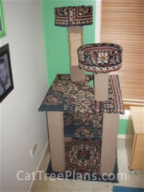stylish cat tree banish the ugly beige carpet check out cat trees without carpet fabulous photo of a homemade